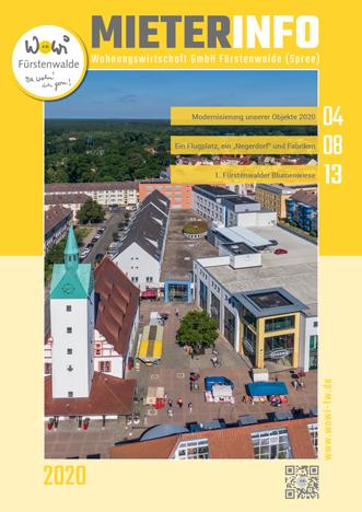 Titelseite MieterInfo der WoWi Fürstenwalde, Ausgabe 2020